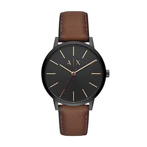 Reloj Armani Exchange Smart para Hombres 42mm, pulsera de Piel de Becerro