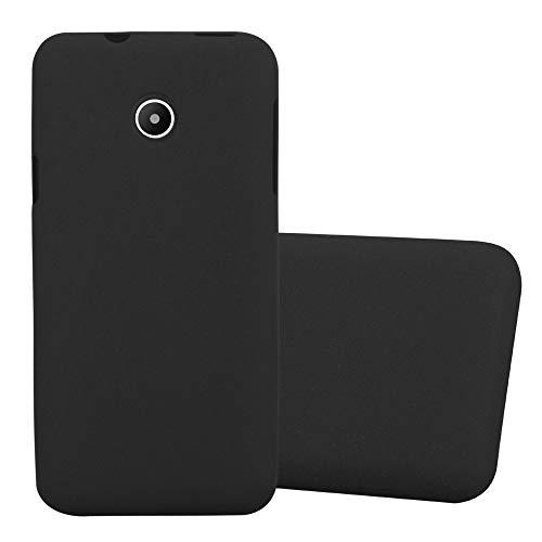 Cadorabo Custodia per Huawei Y330 in Frost Nero - Morbida Cover Protettiva Sottile di Silicone TPU con Bordo Protezione - Ultra Slim Case Antiurto Gel Back Bumper Guscio