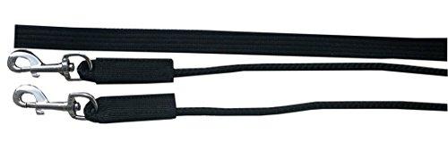 Reitsport Amesbichler AMKA Doppellonge 16 Meter mit Nylonkordel schwarz 2 Karabiner und Wirbel Longieren