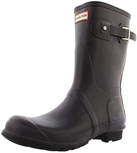 Hunter Women's Original Short Rain Boots, Black, 8 UK