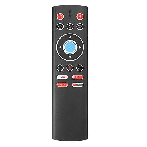 Esenlong Mini teclado inalámbrico con control remoto con micrófono IR, función de aprendizaje para Android TV Box