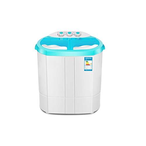 PDGJG Poder Mini Lavadora Puede Lavar la Ropa de Potencia deshidratación Doble Tina Carga Superior Lavadora Secadora