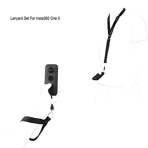 Tineer Neck Strap Lanyard Wrist Strap Set for Insta360 One X Action Panorama Camera Accessory