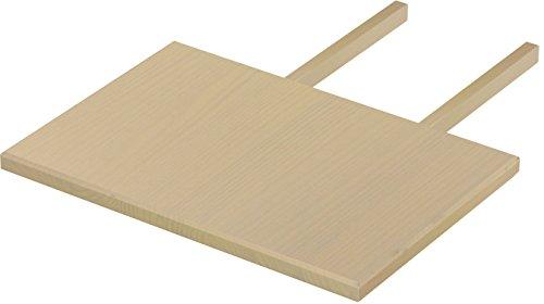 Brasilmöbel Ansteckplatte 50x73 Birke Rio Classiko oder Rio Kanto - Pinie Massivholz Echtholz - Größe & Farbe wählbar - für Esstisch Tischverlängerung Holztisch Tisch Erweiterung ausziehbar