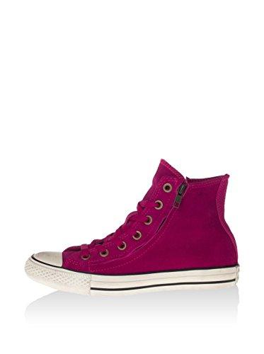 Converse Damen Double Zip Hightop Sneaker, Magenta/schwarz, 36 EU