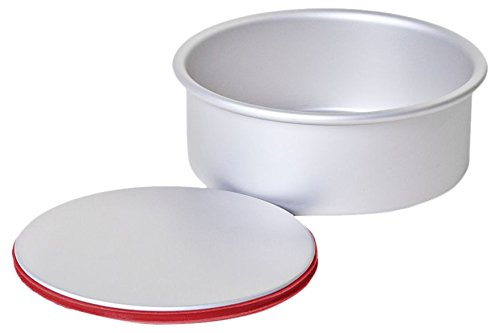 PushPan Round 8 by 2-Inch Aluminum Cake Pan, Silver