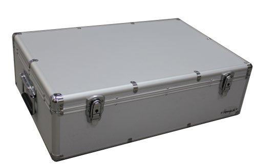 MegaDisc 1000 CD DVD Silver Aluminum Hard Case for Media Storage Holder with Hanger Sleeves
