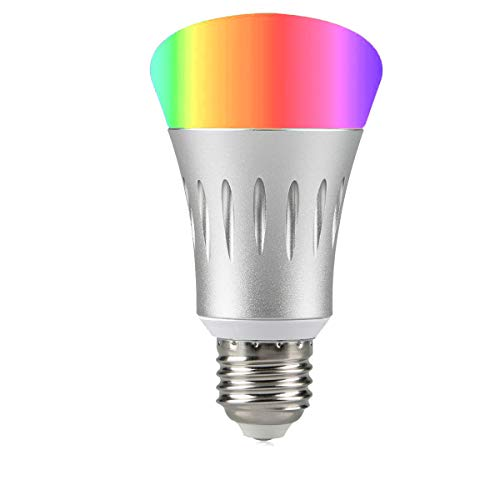 Wi-Fi Smart Light Bulb, Dimmable Multicolored LED Bulbs, 60W Equivalent(7W), Compatible with Amazon Alexa and Google Home, No Hub Required