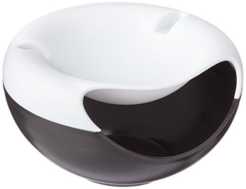 rukauf Snack-Schale Servier-Schale Schüssel für Snacks, Nüsse, Kerne mit Handy Halterung Schwarz-Weiß