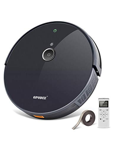 Sale!! Robotic Vacuum Cleaner, with 1800Pa Ultra Strong Suction, Robot Pet Hair Cleaning, Smart Navi...