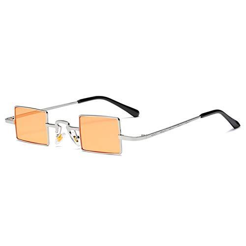 ZLC Moda Metal Pequeño Marco Gafas de Sol Al Aire Libre Decoración de Playa Calle Gafas de Sol Sunglasses Hombres Y Mujeres UV400 Anti-Ultraviolet Sunglasses