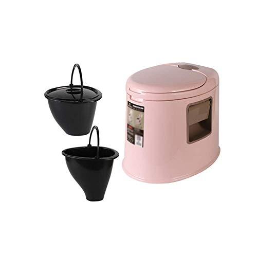 ZXL mobiele toilet, afneembaar, anti-slip en deodorant toilet voor volwassenen, kinderen met klapdeksel, huishoudtoilet (kleur: A)