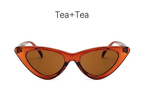 MOJINGYAN Zonnebril Kat Oogschaduw Voor Vrouwen Mode Zonnebril Merk Vrouw Vintage Retro Driehoekige Cateye Bril Oculos Feminino Zonnebrillen, H