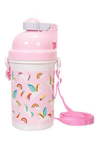 Mountain Warehouse Botella de Agua 500 ml - Resistente, con caño y Duradera - Ideal para Camping, Senderismo y Running Rosa Brillante Talla única