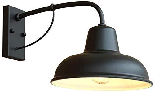 Klassische E27 Wandleuchte-Außen wasserdicht, Innen-Außenschild, Innenhof-Flur-Landhaus-Licht-Wandbeleuchtung, wasserdichte IP54-Schwarzmetallwannen-Form 40 * 23 * 26Cm