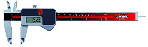 Standard Gage 00534003 Elektronische Messschieber mit Antriebsrad, 0 mm - 150 mm, Auflösung 0.01 mm / 0.0005 Zoll