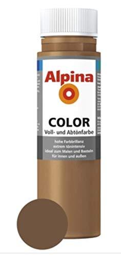 ALPINA COLOR Abtönfarbe, Bastelfarbe, Wandfarbe, Candy Brown, 250 ml