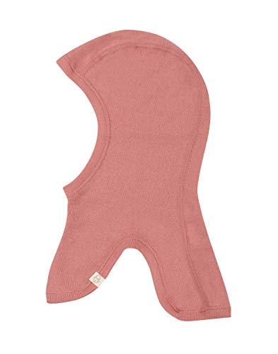 Dilling Schlupfmütze für Babys und Kinder aus 100% Bio-Merinowolle Dunkelrosa 62-74