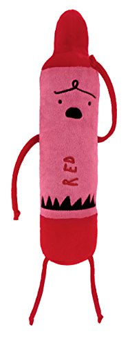 MerryMakers The Day the Crayons Quit Red Plush Toy, 12-Inch