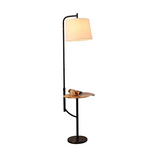 ACwhisper Lámpara de pie de la sala moderna simple dormitorio nórdico creativo Sofá vertical de noche Lámpara de mesa Mesa de Centro América La caída de la lámpara de madera piso (Color : B)