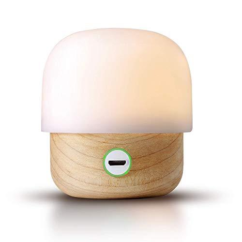 IDMIX Nachtlicht Für Kinder Nachtlampe Stilllicht mit OSRAM LED Lampe Dimmbares schlummerlicht Natürliche Protokolle mit USB Einladung