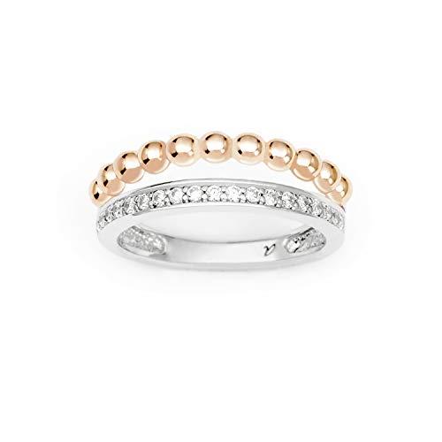 amor Ring für Damen im Kugeldesign bicolor, Silber 925
