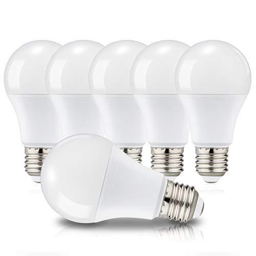 Ampoules LED E27 A60 Culot Edison à vis, 12W Équivaut à 100W, 3000K Blanc chaud, 1150 Lm, 220-240V, Lot de 6