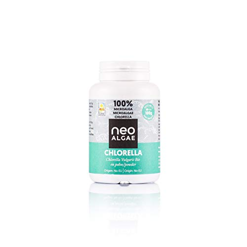Polvere di Clorella | Ecologica | Parete Cellulare Rota per una Migliore Assimilazione e una Maggiore Potenza | 100% Naturale Antiossidante | 100 grammi