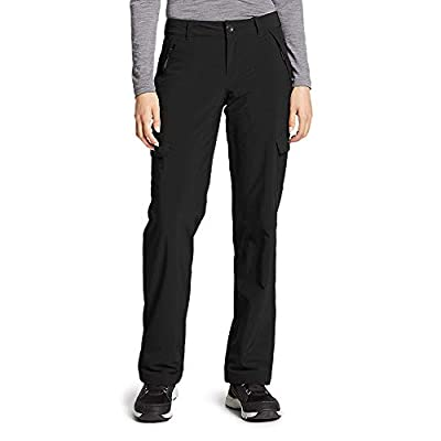 Eddie Bauer Women's Polar Fleece-Lined Pants, Black Regular 4