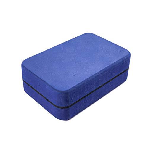 GCX Ladrillo de yoga elástico EVA de alta densidad Protección del medio ambiente Suministros de fitness para principiantes Iyengar Dance Foam Brick Toughness (Color: azul oscuro)