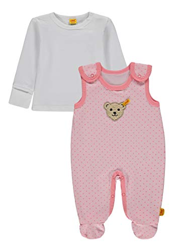 Steiff Steiff Unisex Baby 2tlg. Set Strampler o T-Shirt 1/1 Arm Bekleidungsset, Pink (Barely Pink|Rose 2560), 68