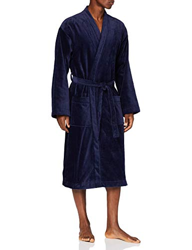 CALIDA Standard After Shower Bademantel Unterwäsche, Dark Blue, XL