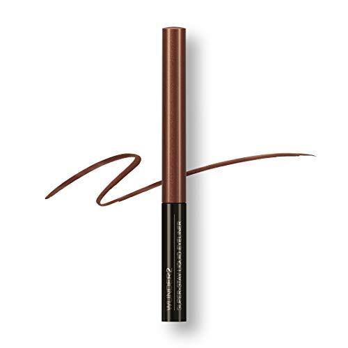 WUNDER2 SUPER-STAY Liquid Eyeliner -  Flüssiger Eyeliner Wasserfest, abriebfest und bis zu 24 Stunden haltbar, Farbe: Glaced Chocolate