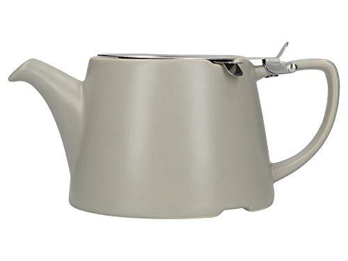 London Pottery Company 43220 - Tetera ovalada con infusor para té suelto, gres, gres, Satin Grey, 3 Cup Loose Leaf Teapot