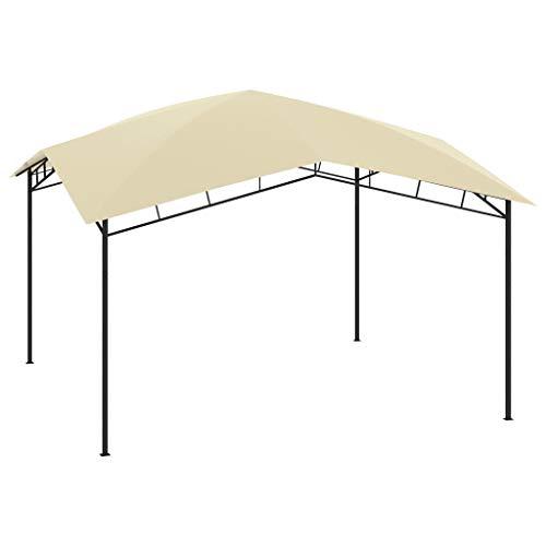 vidaXL Gazebo da Giardino 4x4x2,9 m Crema 180 g/m²