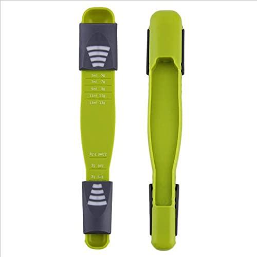 Aidou Cuchara medidora ajustable cuchara de medición conjunto doble extremo escala ajustable ocho puestos cuchara métrica para accesorios de cocina