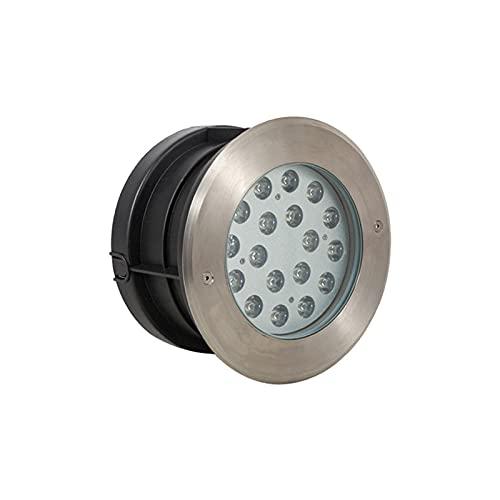 HETX7 Iluminación de paisaje en el suelo de 18 W, luz de pozo LED empotrada para exteriores, impermeable y a prueba de polvo, lámpara de pie empotrada en el camino, jardín, patio, paisaje, incrustado,