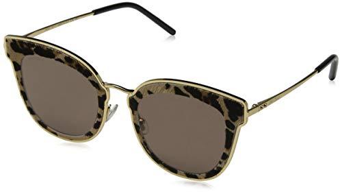 Jimmy Choo Damen NILE/S 2M XMG 63 Sonnenbrille, Gold (Gdblkanimali/Bw Black Brown)
