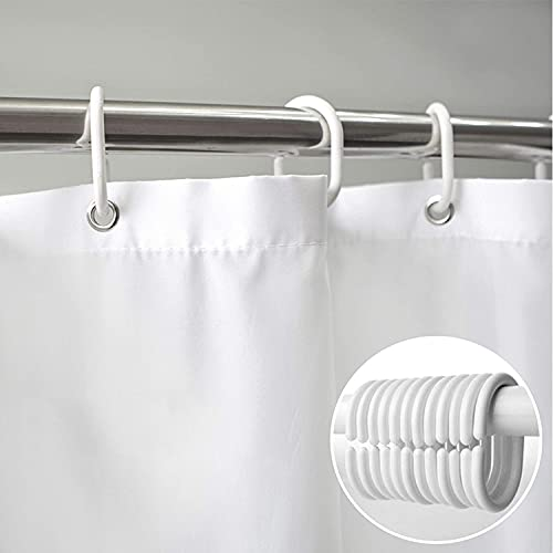Textil DUSCHVORHANG Weiss 250 BREIT 230 HOCH! ÜBERLÄNGE/ÜBERBREITE SONDERMAß