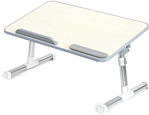 DGHJK Multifunktionaler aufrüstbarer Klapptisch Laptop Tischhöhe und Winkel Verstellbarer Laptopständer Computertisch Faltbarer Laptop-Schreibtisch für Sofa, Bett, Terrasse, Balkon, Garten usw.