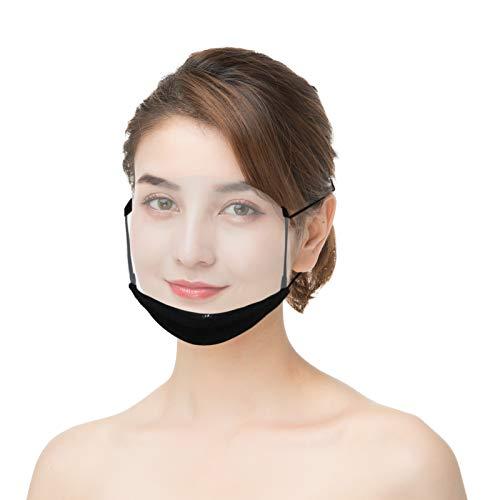 Gesichtsvisier aus Kunststoff   Schutzvisier in Transparent   Universal YIWULA Gesichtsschutz   Visier zum Schutz vor Flüssigkeiten   Face Shield für Mund Nase (A)