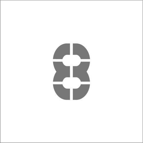 IM ステンシル マグネット 8 文字サイズ150×95mm ASTM815095 マーキングプレート
