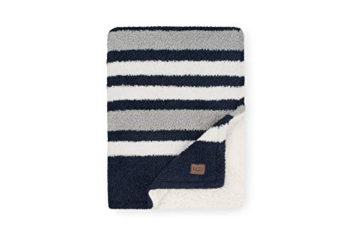 UGG Ana Striped Eyelash Sweater + Sherpa Fleece - Reversible...