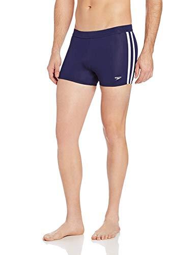 Speedo Men's Swimsuit Square Leg Splice Speedo Navy, Small