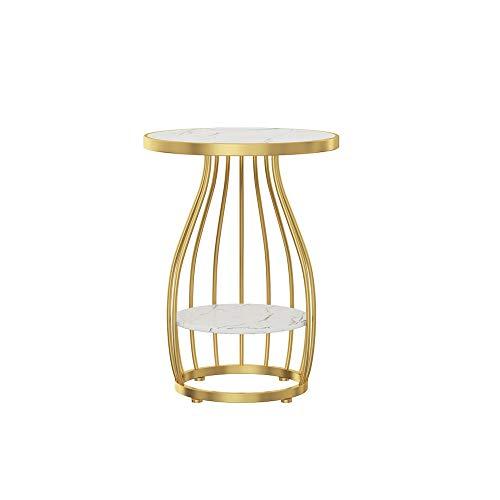 XLEVE Marmo Solid Semplice Ferro Tavolino Nordic Side Table Conner Comodino Lampada da Tavolo No lacca