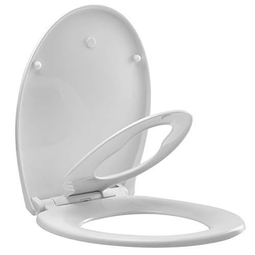 Spirella Kinder Familien WC Sitz Absenkautomatik Toilettendeckel PP Klodeckel Toilettensitz mit Soft-Close Funktion abnehmbar zur Reinigung von der Keramik