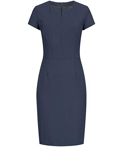 GREIFF Damen Etui-Kleid Corporate WEAR Premium 1068 Regular Fit - Mikrodessin Blau - Gr. 52
