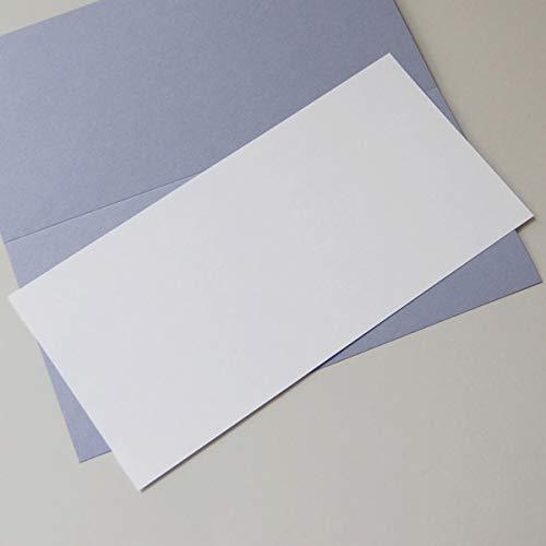100 Bogen naturweißes Einlegepapier 10,3 x 20,8 cm, Munken Lynx 90 g/qm, für langDIN-Klappkarten