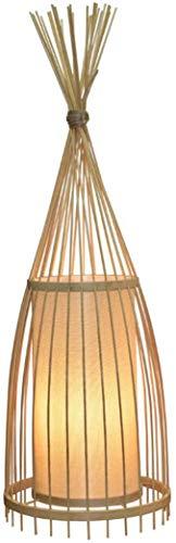 LOKKRG Lámpara de pie Bamboo E27EstudioLámpara de bambúcon Interruptor (Tamaño: Diámetro 30 * 158 cm de Alto)