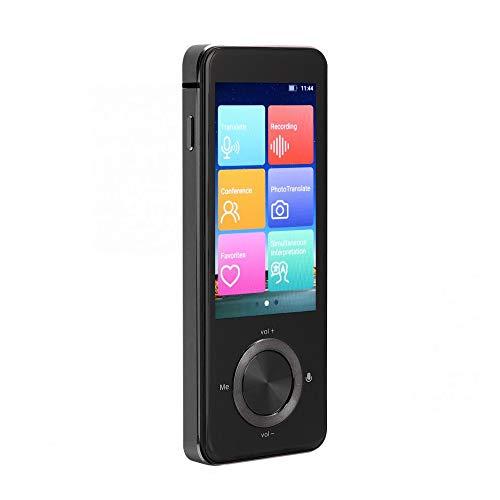 Keyohome Traducción de voz Inteligente-Interpretación Bidireccional en Tiempo Real Traductor Bluetooth con Micrófono y Altavoces, Compatible con Traducción en Varios Idiomas (negro)